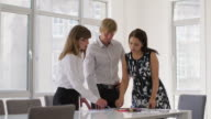 MS A team discuss a business project