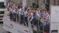 Team GB at 'Our Greatest Team Parade' London 2012 on September 10 2012 in London England