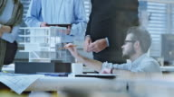 DS Team von Architekten charakteristische detail des Architekturmodell