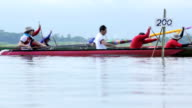 Team Rowing race on The lake