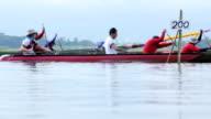 Team-Rudern Rennen auf dem See