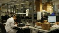 Technician repairing smart phones