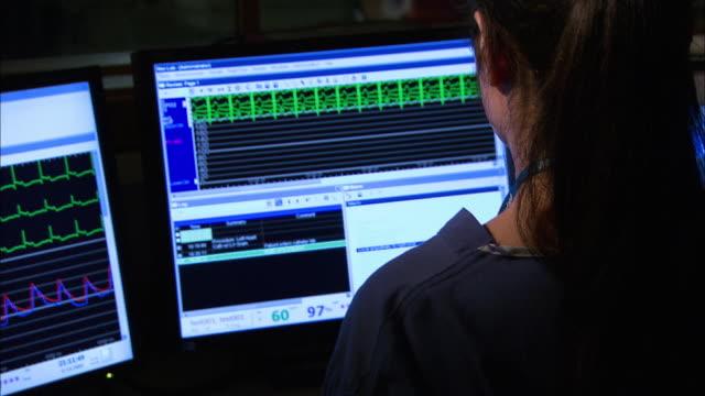 Technicians in theatre control room