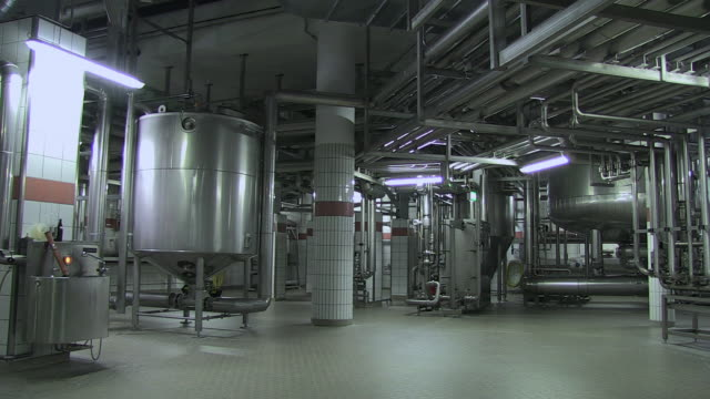 MS PAN Technology of making beer inside brewhouse  / Grafenhausen, Baden-Wuerttemberg, Germany