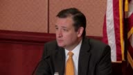 Ted Cruz and Texas Governor Greg Abbott hold joint press conference on efforts to put curbs on Syrian refugees Cruz is also asked about Donald...