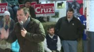 WHO Ted Cruz Asks Supporters to Continue to Pray Until Election Day in Osceola Iowa on January 26 2016