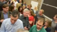 Ted Cruz campaigns at Morningside College in Sioux City Iowa 06 A person asks Cruz which job he liked better Solicitor General or US Senator Clip 2...