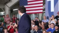 Ted Cruz holds a campaign rally in Franklin Indiana to a packed Johnson County Fairgrounds Interviews with Michael Waylon 29 a hospitality worker and...