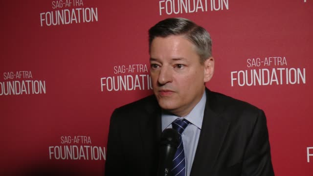 INTERVIEW Ted Sarandos on the event and honor at SAGAFTRA Foundation Patron of the Arts Awards in Los Angeles CA