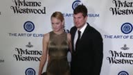 Teddy Charles and Amber Valletta at the The Art of Elysium's Ninth Annual Heaven Gala at 3LABS on January 9 2016 in Culver City California