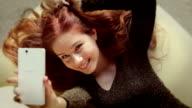 Teen selfie sofa   TEE