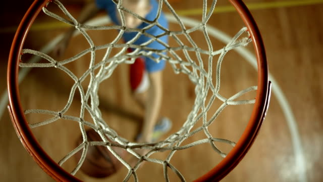 HD: Teenage Basketball Player Practicing Small Forward