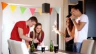 Teenage girl celebrating birthday