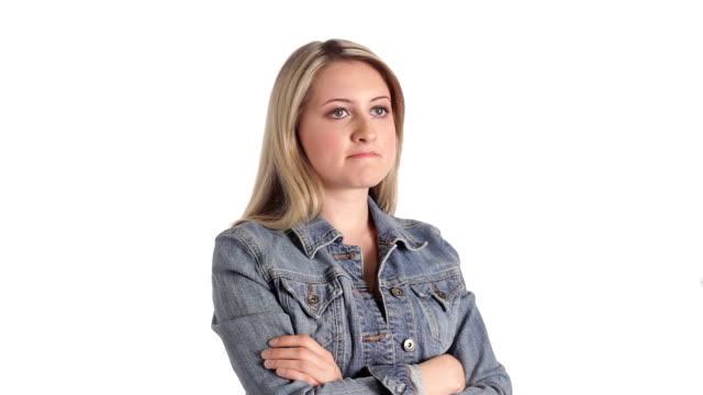 Adolescente ragazza sta a Piangere