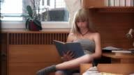 HD: Teenage Girl Reading A Book