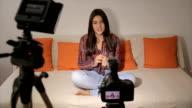 Tiener meisje-video blog voor youtube