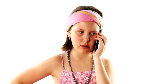 Teenager girl talking on the phone