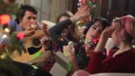 Teens Hi Five at Christmas