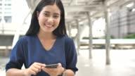 Teens Using Social Media outdoor, Slow motion