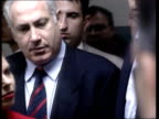Tel Aviv bombing ITN Moore i/c Benjamin Netanyahu as visiting wounded Benjamin Netanyahu pkf Will pursue terrorists/ if terrorists came from areas...
