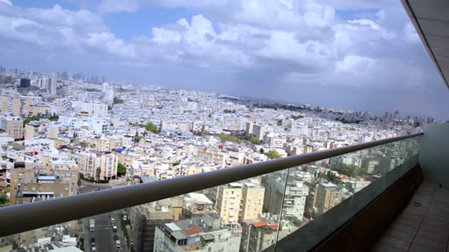 Tel Aviv street view from sky