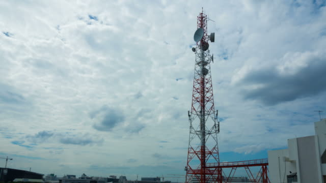 Telecommunication tower and cloud