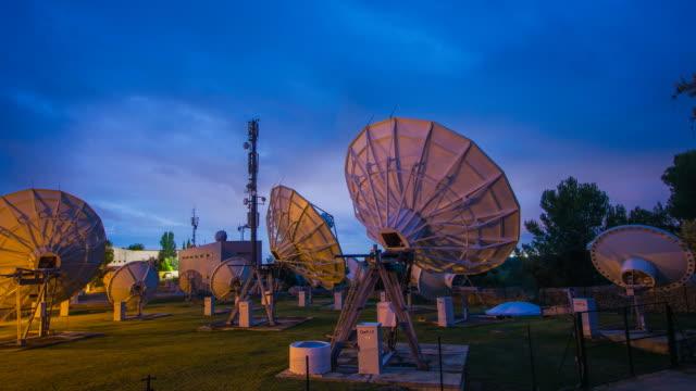 Telecommunication WIFI wireless Satelites Antenna Dish transmission Majorca Observatory