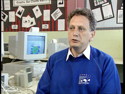 Mergers CMS Boy PULL OUT CBV another both using computers CMS Colin Dyson intvw SOT When we did Ancient Greeks topic they were able to contact a...