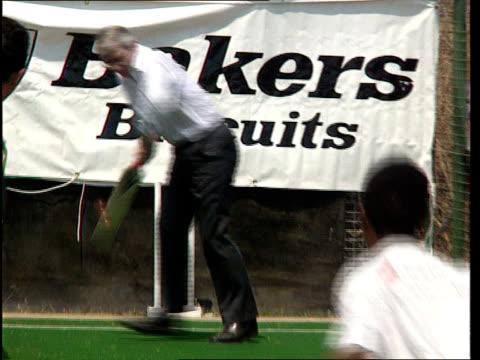 London Wembley John Major playing cricket in nets