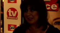 2010 TV Choice Awards red carpet interviews Coleen Nolan interview SOT Who should win Emmerdale Danny Miller On her son Jake Roche being in the show...
