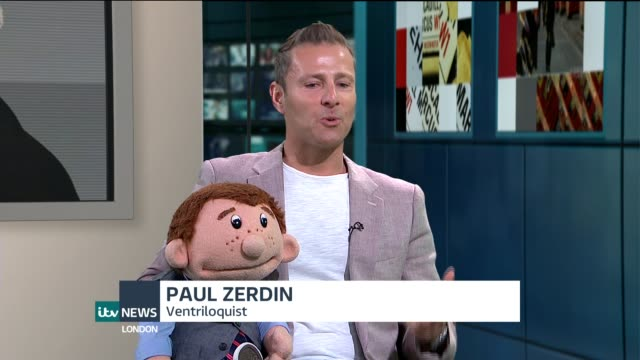America's Got Talent Ventriloquist Paul Zerdin interview ENGLAND London GIR INT Paul Zerdin STUDIO interview SOT