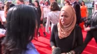 Television Awards 2016 red carpet ENGLAND London South Bank EXT Ruth Madeley red carpet interview SOT / Nadiya Hussain interview SOT / Archie Panjabi...