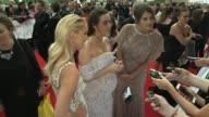 red carpet arrivals and interviews GVs Michelle Collins / GVs Clare Balding / Jennifer Metcalfe and other Hollyoaks cast members / GVs of the rain...