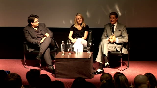 'Britain's Got Talent' launch judges press conference Michael McIntyre David Hasselhoff and Amanda Holden press conference SOT [Holden] On contestant...