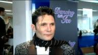'Dancing On Ice 2012' launch celebrity interviews ENGLAND London INT Corey Feldman speaking to press SOT Corey Feldman interview SOT On being nervous...