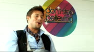 'Don't Stop Believing' talent show launch interviews with celebrity host and judges Duncan James interview continues SOT On his most memorable...
