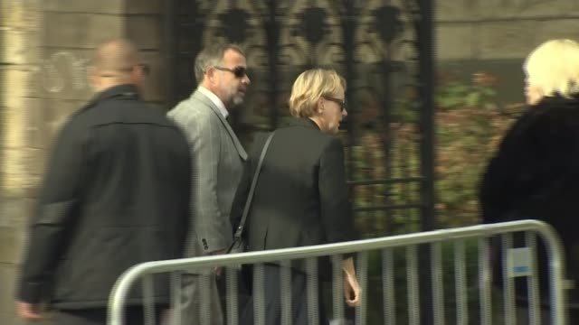 Funeral of 'Coronation Street' actress Liz Dawn ENGLAND Greater Manchester Salford Salford Cathedral EXT Actors from cast of tv soap opera...