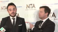 National Television Awards 2017 winners' room Television National Television Awards 2017 winners' room Ant and Dec interview and photocall SOT / Tess...