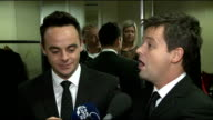 RTS Programme Awards 2013 Interviews Ant and Dec interview SOT / Ant Dec chatting to press backstage SOT / AnneMarie Duff interview SOT