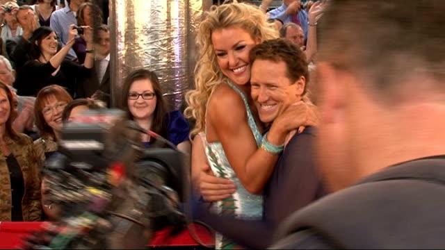 'Strictly Come Dancing' press launch Ola Jordan and James Jordan posing for photocall / Ola Jordan posing by herself / Lowe blowing kiss at camera...