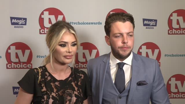 TV Choice Awards 2017 red carpet interviews Chloe Sims and James Diags interview SOT Lady Nadia Essex interview SOT