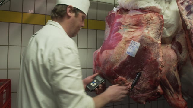 Temperature control of the meat