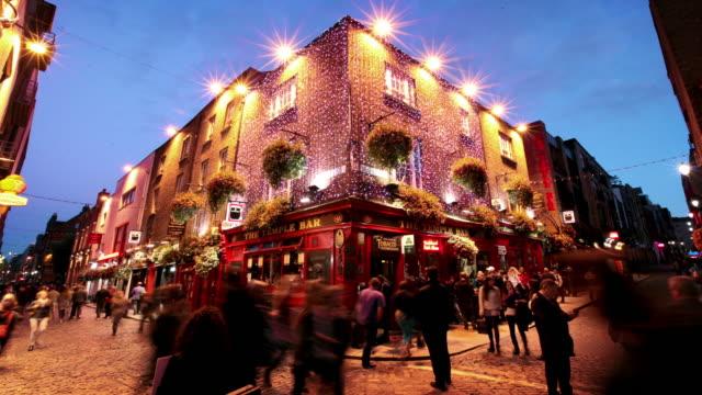 Il quartiere di Temple Bar di Dublino, Irlanda