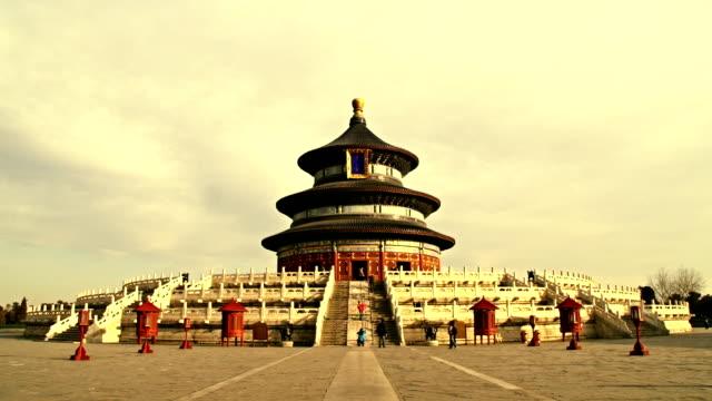 Temple of Heaven in Peking, timelapse