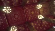 temple wall art rooftop chanderlier lighting