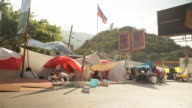Temporary camps of refugees that have lost their homes after the Haiti earthquake of January 2010