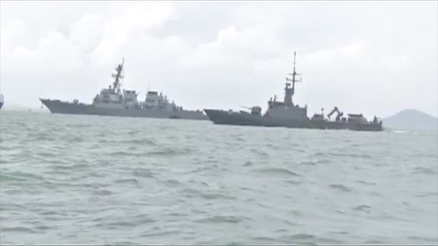 Ten US sailors are missing and five injured after their destroyer collided with a tanker east of Singapore the second accident involving an American...