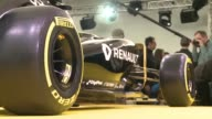 Ten years after F1 driver Fernando Alonso won a title Renault unveils its new Formula 1 car at its Technocentre in Guyancourt France as the French...