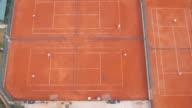 Tennis court aerial