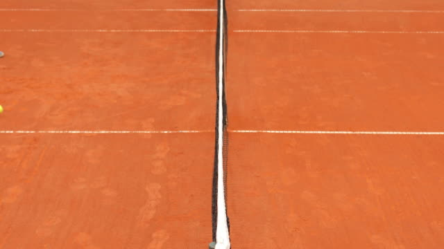 Tennis Court Net Stopping Tennis Ball
